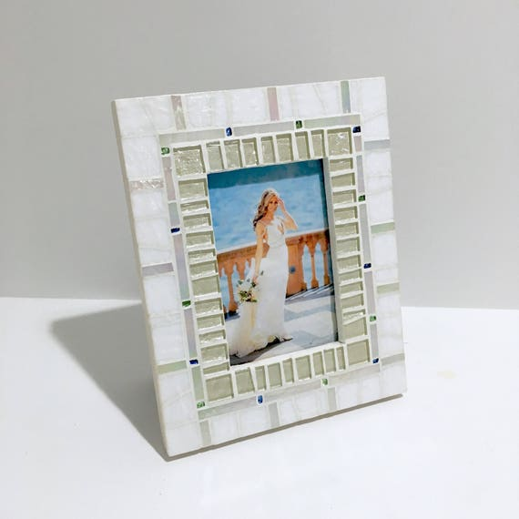 Items Similar To Mosaic Photo Frame, Wedding Gift, Picture
