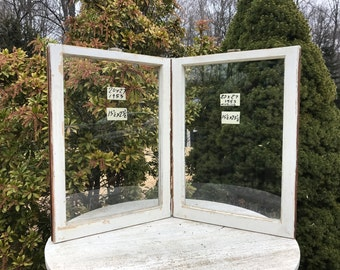 2 20 x 27 vintage window sash frames old single pane from 1950 arts crafts