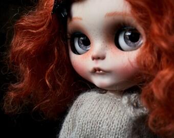 """Ooak Custom Blythe Art Doll """" Ginger """" by Iriscustom"""