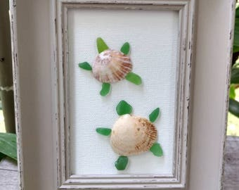 Sea Glass Sea Shell Turtles