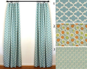 Curtains 2 Curtain Panels Draperies Window Treatments Premier Prints Village Blue Laken