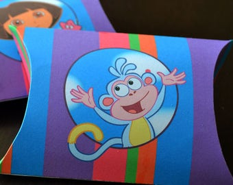 Dora Favor Box Printables, Dora Favor Bags, Dora the Explorer Party Gifts, Dora Birthday party, Dora party Favor Boxes, Favor Bags