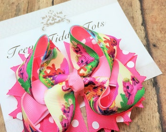 Pony Boutique Hairbow, Boutique Hairbow, Hairbow, Pink Hairbow