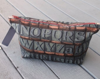 Vintage Letterpress Slice Bag