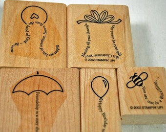 Unused Stampin' Up Rubber Stamps The Fine Print