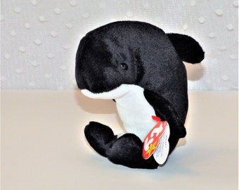 "1996 ""Waves"" Ty Beanie Baby/ Orca Whale Beanie Baby"