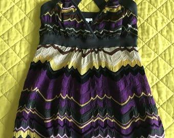 Missoni knit crisscross back knit top