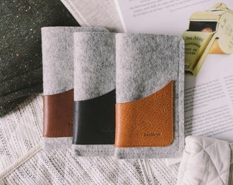 """Felt pouch for iPhone 7 Case, fits iPhone 6S, iPhone 6, leather, wool felt, """"Geometry"""", by band&roll"""