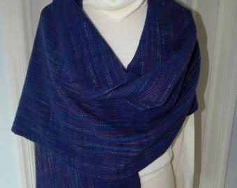 Hand Woven Merino Wool & Silk Shawl