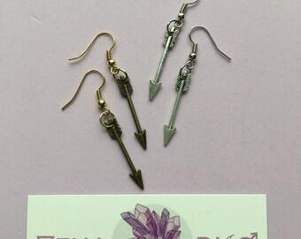 Arrow Earrings - Bronze, Silver, Petite Charm