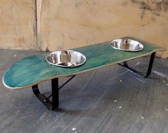 Salvaged Skateboard Pet Dish