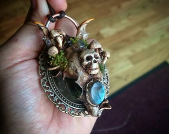 Squirrel forest Growth,bone jewellery,gothic,occult,oddities