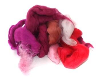 Pink Batt Food - 100g - 3.5oz - Scrap Merino - botany waste - BATT FOOD