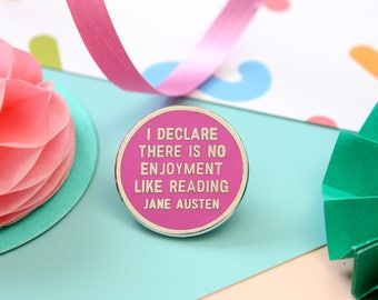 Jane Austen Enamel Pin. Pin Game, Bookish Enamel Pin. Literary Enamel Pin. Book Pin. Booklover. Bookworm. Jane Austen Quote. Jane Austen Pin