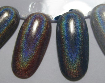 Starbright Holographic Top Coat Winter Holodays Holo Custom Indie Nail Polish Lacquer