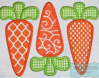 Carrot Trio Machine Embroidery Applique Design
