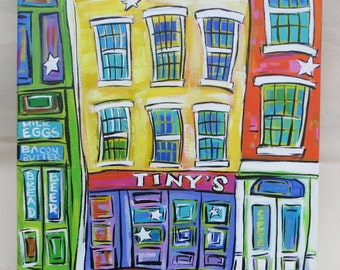 Tiny's - 12x12 Inch Original Acrylic Painting - Pop Art - Color Your World