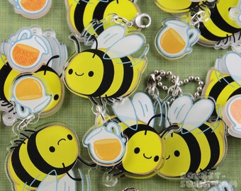 Bee with Dangling Nectar - for cell phones, zipper pulls & key chains