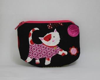 Cat Zipper pouch, coin purse