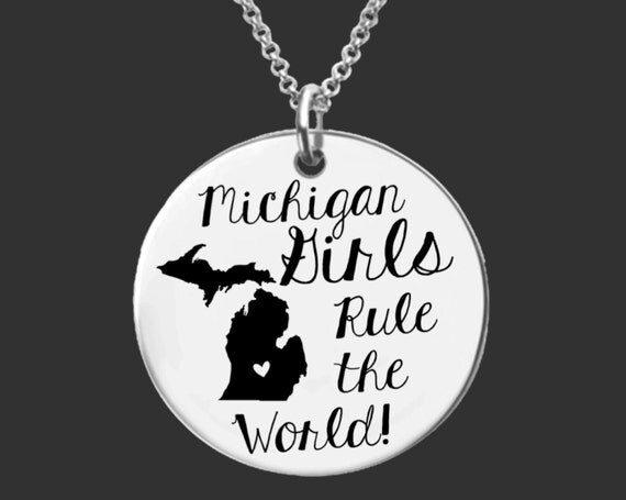 Michigan   State Necklace   Bridesmaid Gifts   Friend Gift   Daughter Gift   Best Friend Gifts   Personalized Gifts   Korena Loves