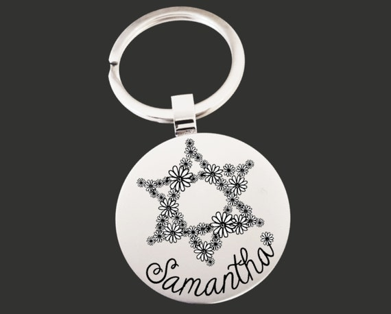 Star of David Keychain | Bat Mitzvah Gifts | Star of David | Personalized Gifts | Korena Loves
