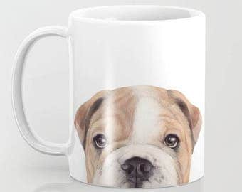 BullDog Original painting design by Miart, MUG 11 OZ