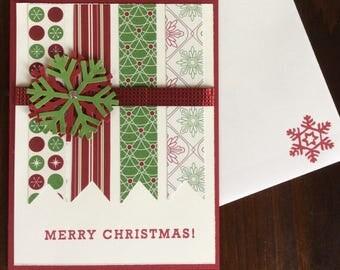 Christmas, Snowflakes, Handmade, stampin up