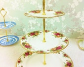 Old Country Roses Large 3 Tier Cake Stand