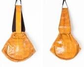 1940s Sterling Handbag Co. Tan Snake Skin Wrist Bag // Handbag with Original Mirror and Wallet
