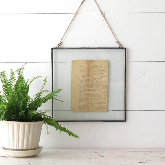 metal double sided frame industrial style collage frame memo board photo display boulderbluestudio from boulderbluestudio on etsy studio - Double Sided Frames