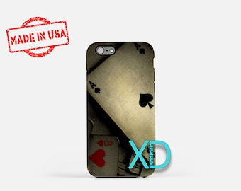 Artistic Poker iPhone Case, Cards iPhone Case, Poker iPhone 8 Case, iPhone 6s Case, iPhone 7 Case, Phone Case, iPhone X Case, SE Case