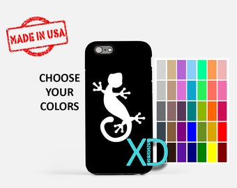 Simple Lizard iPhone Case, Gecko iPhone Case, Lizard iPhone 8 Case, iPhone 6s Case, iPhone 7 Case, Phone Case, iPhone X Case, SE Case