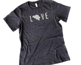 WOMEN'S Love Belgium T-shirt | Belgium Soft Blend Tee | Belgium Adoption | Belgium Home | Traveling Belgium | Simple Belgium | Soft Belgium