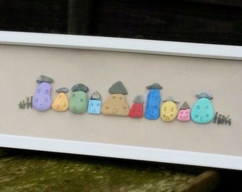 Pebble Art, Framed Art, Box Frame, Vibrant Colours, Painted Pebbles, Pebbles, Pebble Artwork, Rainbow