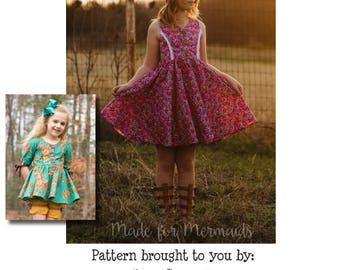 Sutton Top & Dress PDF Sewing Pattern 1/2- 14