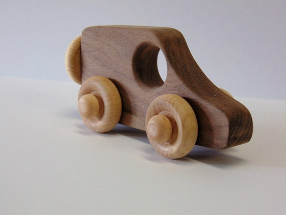 Natural Wood Toy Woodie Van