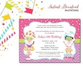Spa Pampering Invitation | Kids Birthday | Printable Editable Digital PDF File | Instant Download | KBI205DIY