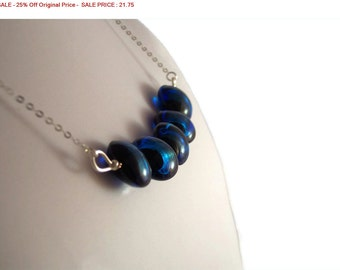 SALE - 25% Off Original Price Sterling Silver Dichroic Bead NECKLACE, Jewelry.