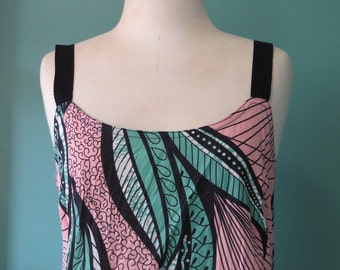 Cotton Sundress, Summer dress, Cotton print dress, Beach dress, Resort wear, Handmade, Natural fibre, Linen clothing, Dress with Pockets.