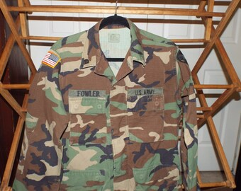 United States Army Military Jungle Fatigues Jacket Size Small