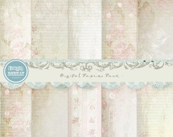 ON SALE Digital Scrapbooking Papers pack, 12x 12 in 300 dpi vol.40 - INSTANT Download