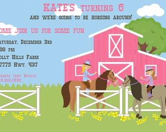Horseback Riding Child's Birthday Party Invitation