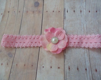 Hydrangea   Rosette Headbands ...  ..Baby Girl Headbands.. Photo Prop...Girls Headbands