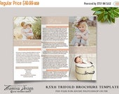 ON SALE Family Photography Trifold Brochure Template , Client Welcome Guide, Flyer, Photography Pricing Guide, Price List  sku tw-2