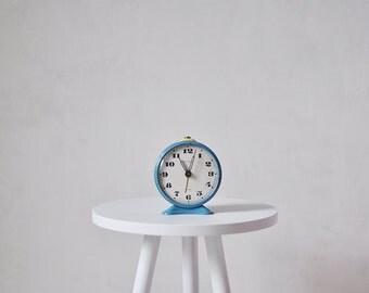 Vintage soviet mechanical alarm clock JANTAR - working condition