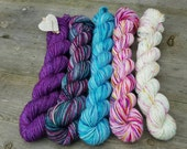 Mini Skein Bundles - Suzy Parker Yarns -  5 x 20g skeins mixed fibres 100grams