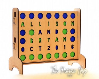 Personalized Circles Connect 4 Game