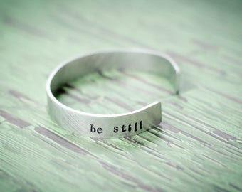 Psalm 46:10,be still, be still and know that i am God, faith bracelet, trust god bracelet, anchor of my soul bracelet