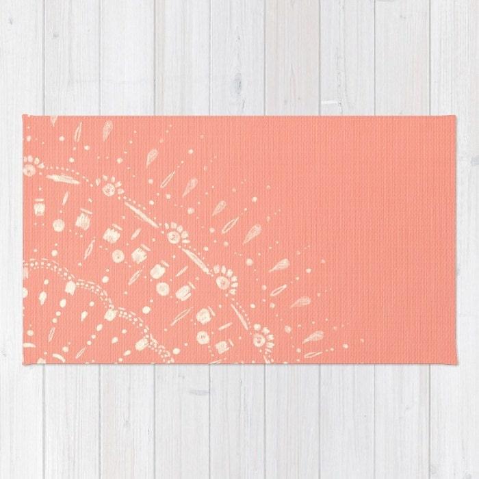 Coral Pink Area Rug Pink Area Rug Light Pink Rug Nursery