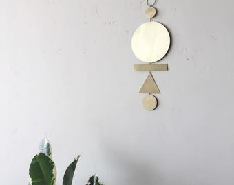 Brass wall hanging // ready-to-ship
